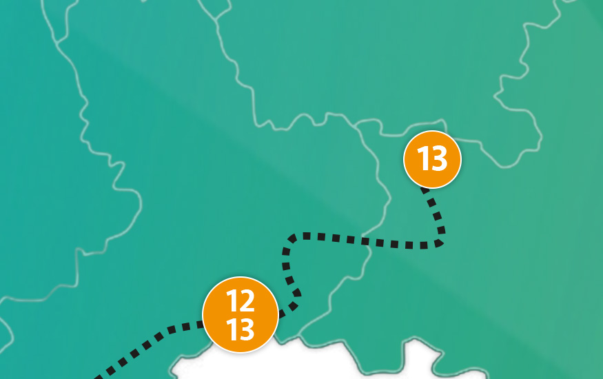etappe 13 - Scheidingsplanner Hilversum   Bilthoven   Soest   't Gooi