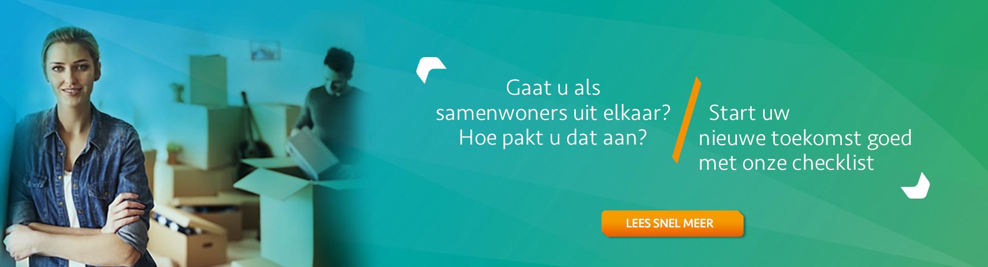 Uit elkaar gaan na samenwonen - Scheidingsplanner Hilversum - Bilthoven - Soest - Het Gooi